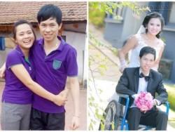 Đám cưới như mơ khiến cả nhà bật khóc của chàng trai tàn tật