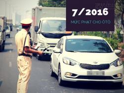 Mức phạt lỗi ô tô mới nhất từ 07/2016