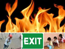 Dạy trẻ kỹ năng thoát hiểm khi gặp phải hỏa hoạn