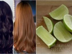 1 quả chanh – 3 công thức nhuộm tóc nâu vàng siêu đẹp mà không lo hóa chất hay sợ bay màu