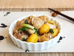Thịt gà om hạt dẻ thơm ngon, ấm nóng
