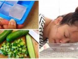 Thái nhỏ quả dưa chuột cho vào chậu nước lạnh để rửa mặt, cô gái sốc sau khi thấy kết quả xảy ra
