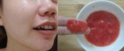 Cho nhúm muối vào cà chua thoa lên mặt, sau 15 phút bạn không còn nhận ra làn da của mình