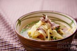 Công thức nấu canh thịt bò xoài xanh thơm ngon bổ dưỡng cho ngày hè