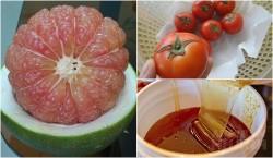 Chuẩn bị 1 bưởi + 1 cà chua: Đầu tuần 50kg đến cuối tuần còn 45kg, da trắng bật tông, sáng hồng chẳng cần bôi kem