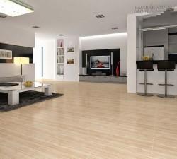 Sàn gỗ công nghiệp thay thế gạch men vân gỗ