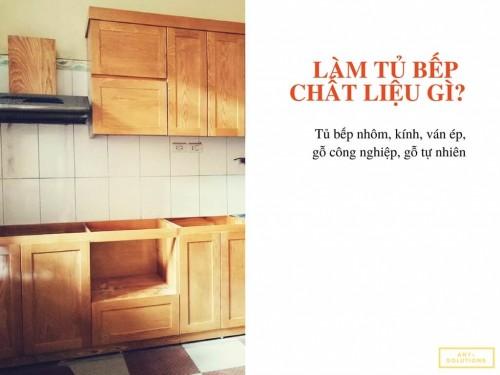 Nên làm tủ bếp bằng chất liệu gì?, 77715, Phan Thị Thanh Lành, Blog MuaBanNhanh, 28/12/2017 12:06:24