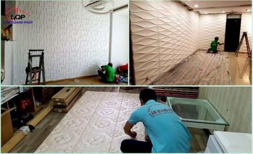 Trang trí phòng khách đẹp và sang trọng với tấm ốp 3D, 76946, Tấm Ốp 3D - Giấy Dán Tường - Sàn Gỗ, Blog MuaBanNhanh, 28/12/2017 11:33:58