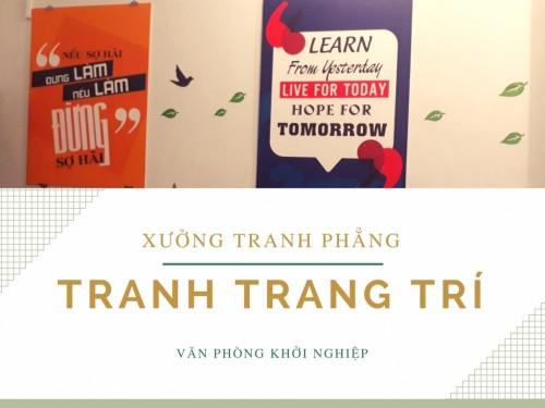 Xưởng tranh phẳng trang trí văn phòng khởi nghiệp, 77246, Ms Thanh Xuân, , 28/12/2017 11:45:19