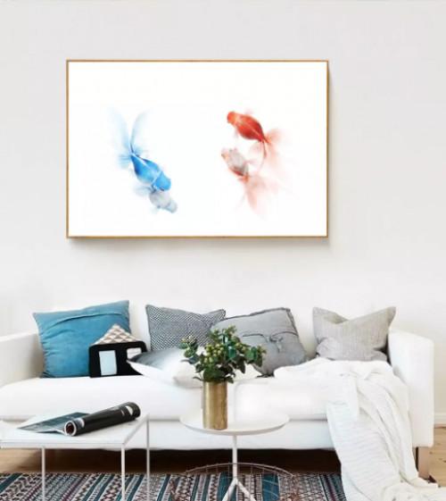 Biến hóa ấn tượng cùng tranh đẹp treo phòng khách, 81688, Ms Thanh Xuân, Blog MuaBanNhanh, 23/07/2018 10:22:43