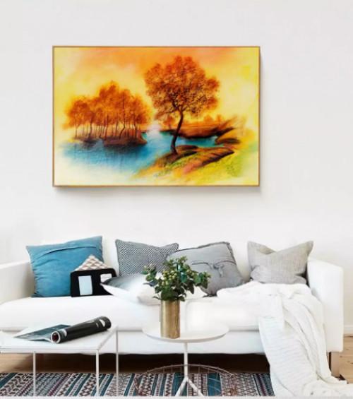 Thiết kế tranh sơn dầu treo phòng khách cực ấn tượng, 81696, Ms Thanh Xuân, Blog MuaBanNhanh, 23/07/2018 10:22:44