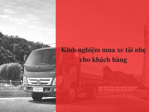 Kinh nghiệm mua xe tải nhẹ cho khách hàng, 78577, Xe Tải Thaco Trường Hải, Blog MuaBanNhanh, 17/01/2018 10:17:30
