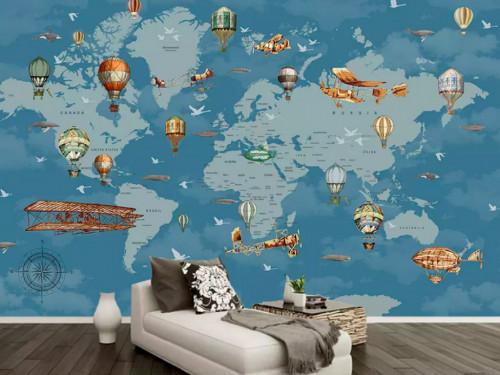 Decal dán tường hình bản đồ thế giới trang trí phòng bé yêu, 84480, Ms Hạnh Dung, Blog MuaBanNhanh, 21/08/2018 10:00:32