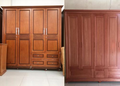 Mẫu tủ quần áo gỗ tự nhiên 4 cánh đẹp, 85677, Mãnh Nhi, Blog MuaBanNhanh, 25/09/2018 11:35:06