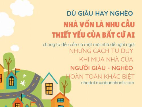 Tư duy khác biệt của người giàu và người nghèo: đọc ngay cách họ mua nhà này!, 90495, Trương Võ Tuấn Mbn, Blog MuaBanNhanh, 28/03/2019 14:50:38