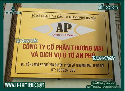 Làm biển hiệu - Biển công ty bằng  inox, 94897, Ms Hằng, Blog MuaBanNhanh, 26/05/2020 13:28:44