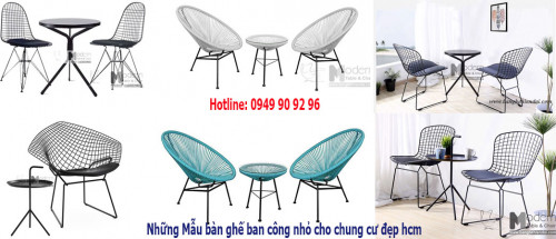 Những mẫu bàn ghế ban công nhỏ cho chung cư đẹp hiện đại HCM, 94916, Bàn Ghế Hiện Đại, Blog MuaBanNhanh, 26/05/2020 17:19:40