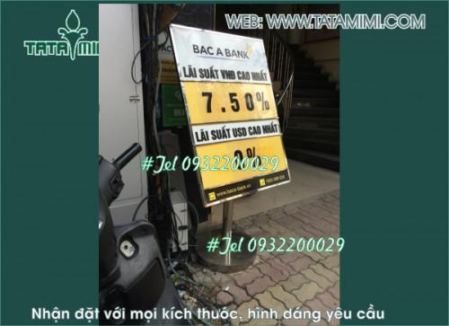 Biển lãi suất ngân hàng thường dùng chất liệu nhôm Aluminium, 95731, Ms Hằng, Blog MuaBanNhanh, 29/10/2020 11:25:56