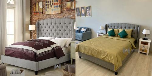 Giường ngủ bọc nệm đầu giường đẹp tại hcm