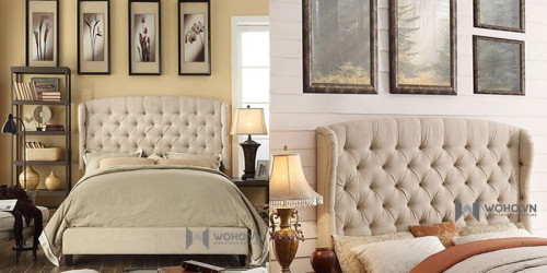 Mẫu giường bọc nệm tại hcm