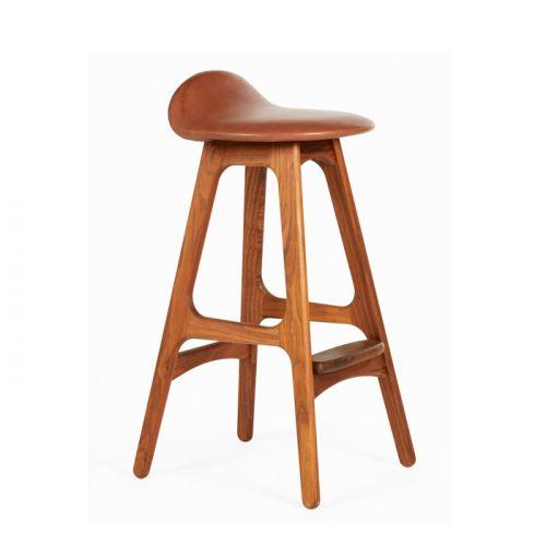 Erik Buch Bar Chair | Nơi Bán Ghế Quầy Bar Đẹp Chân Gỗ Cố Định Cao Cấp Tại HCM