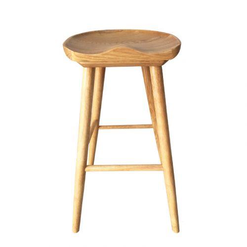 Ghế quầy bar gỗ màu tự nhiên sang trọng CB2146-75W