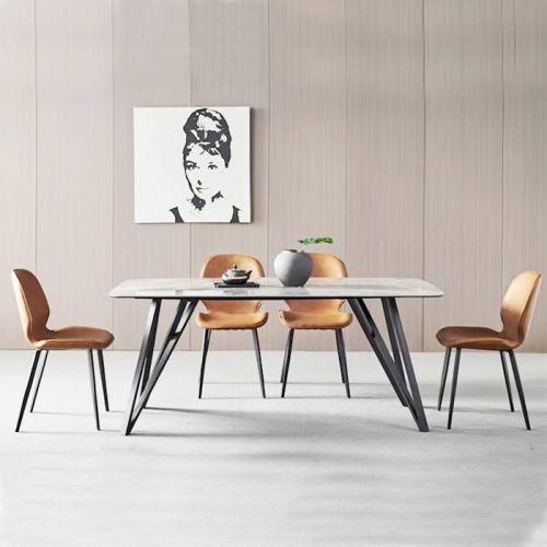 SD TN1224-14E / LUX 9A-P | Bộ bàn ăn 4 – 6 ghế mặt đá phiến tự nhiên đẹp tại HCM