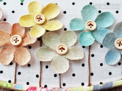 Tranh treo tường đáng yêu làm bằng vải