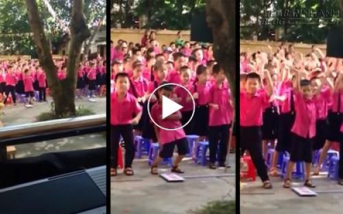 Học sinh tiểu học nhảy dân vũ cực đáng yêu trong ngày khai giảng, 50326, Nguyễn Thu Hương , Blog MuaBanNhanh, 05/09/2015 15:04:08