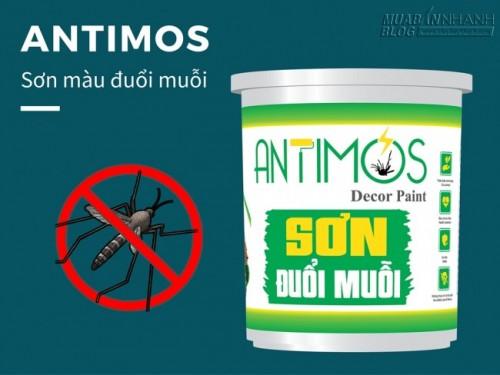Sơn màu đuổi muỗi Antimos | Quy cách: 1000ml | Giá: 250.000đ | Mô tả: Khi sử dụng Antimos cho tường nhà bạn, nếu muỗi xuất hiện và đậu trên bề mặt tường, những hợp chất có trong màng sơn sẽ khiến muỗi khó chịu và bỏ đi ngay lập tức. Đặc biệt, dòng sản phẩm này hoàn toàn không gây ra mùi khó chịu và hóa chất độc hại nên đảm bảo an toàn về sức khỏe của con người và vật nuôi. Ngoài ra sơn có tác dụng trừ khử côn trùng trong phòng ngủ hiệu quả, 4