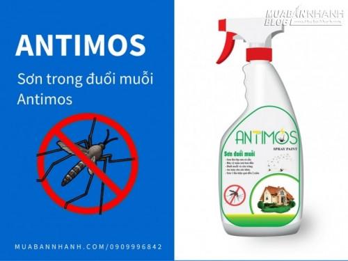 Sơn trong đuổi muỗi Antimos | Quy cách: 600ml | Giá: 200.000đ | Mô tả: Antimos đuổi được MUỖI - RUỒI - GIÁN - KIẾN - NHỆN Mối, mọt & các loại côn trùng quấy nhiễu khác .... Ngoài ra sơn có giá thành thấp là sự lựa chọn dễ dàng cho người tiêu dùng, 2