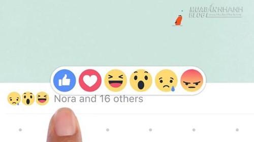 Facebook cập nhật nút Like kèm biểu tượng cảm xúc, 66000, Nguyễn Thu Hương , Blog MuaBanNhanh, 26/02/2016 08:37:57