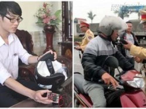 Nam sinh lớp 12 chế tạo mũ bảo hiểm thông minh dành cho người say, 70499, Nguyễn Thu Hương , , 02/05/2016 09:24:55
