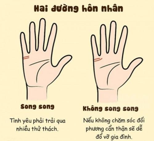 Hai đường chỉ tay hôn nhân, Bàn tay có hai đường chỉ tay hôn nhân, Xem tay có hai đường chỉ tay hôn nhân