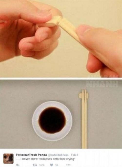 Cách dùng đũa một lần sai và đúng