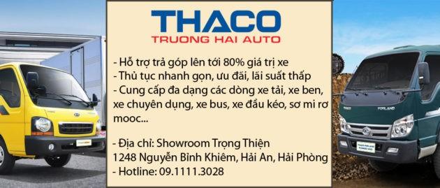 Xe tải Thaco trả góp Hải Phòng