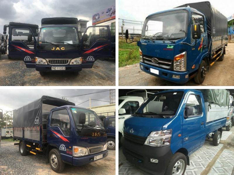 So sánh xe tải Veam 2t4 và xe tải Jac 2t4