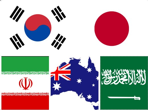 Đại diện châu Á tham dự World Cup 2018