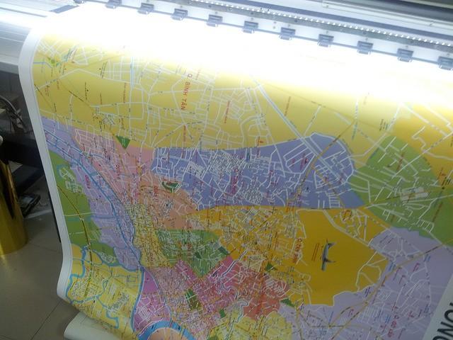 In bản đồ khổ lớn từ in PP