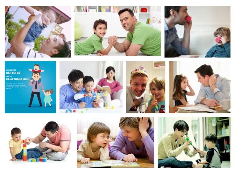 Chơi với bố kích thích sự thông minh ở trẻ