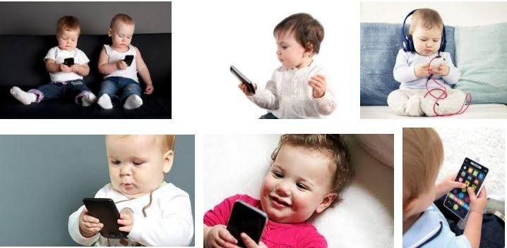 Cho con chơi các thiết bị điện tử và những hệ lụy