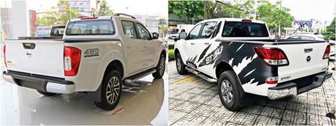 Mazda BT-50 có kích thước tổng thể lớn hơn Nissan Navara