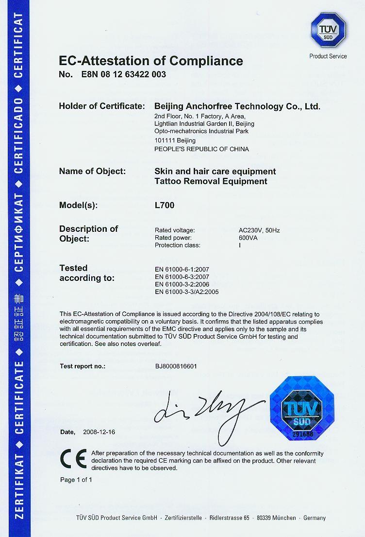 Anchorfree đạt ISO13485 năm 2003