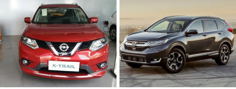 So sánh thông số trang bị nội thấtxe Nissan X-Trail 2018 và Honda CR-V 2018