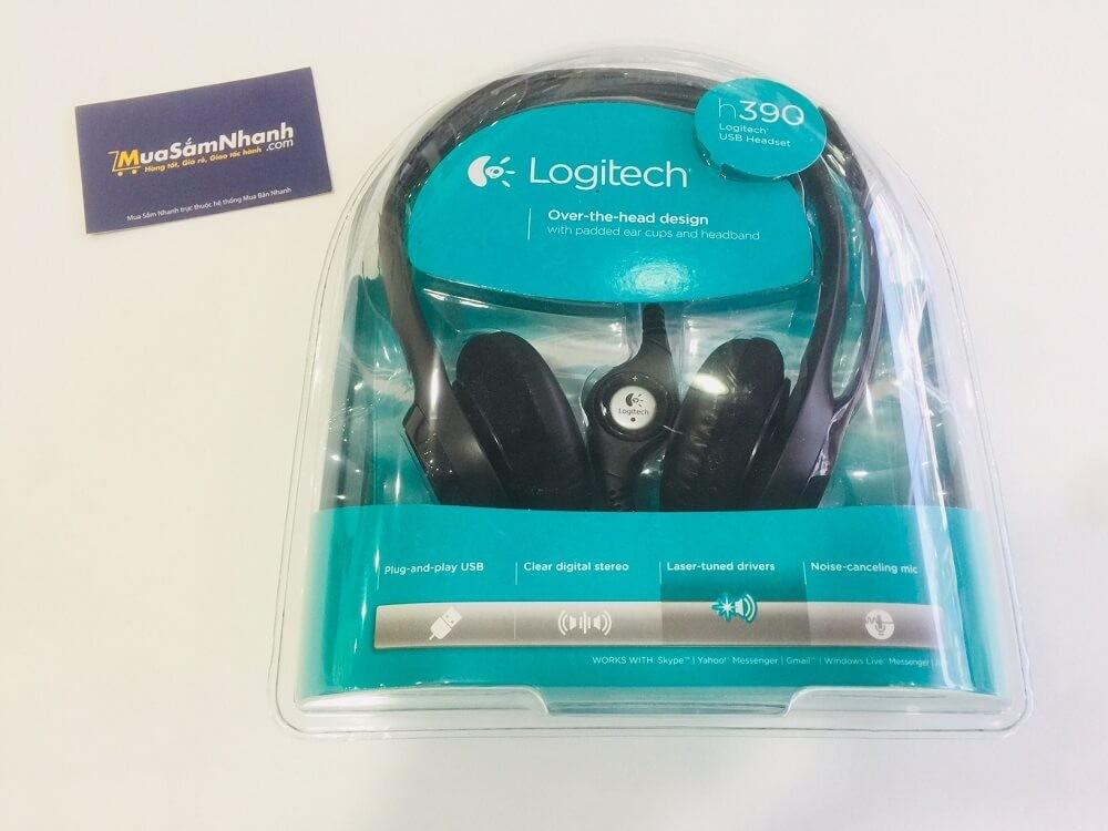Tai Nghe Headphone Logitech Headset H390 Tích Hơp Mic, Điều chỉnh âm lượng
