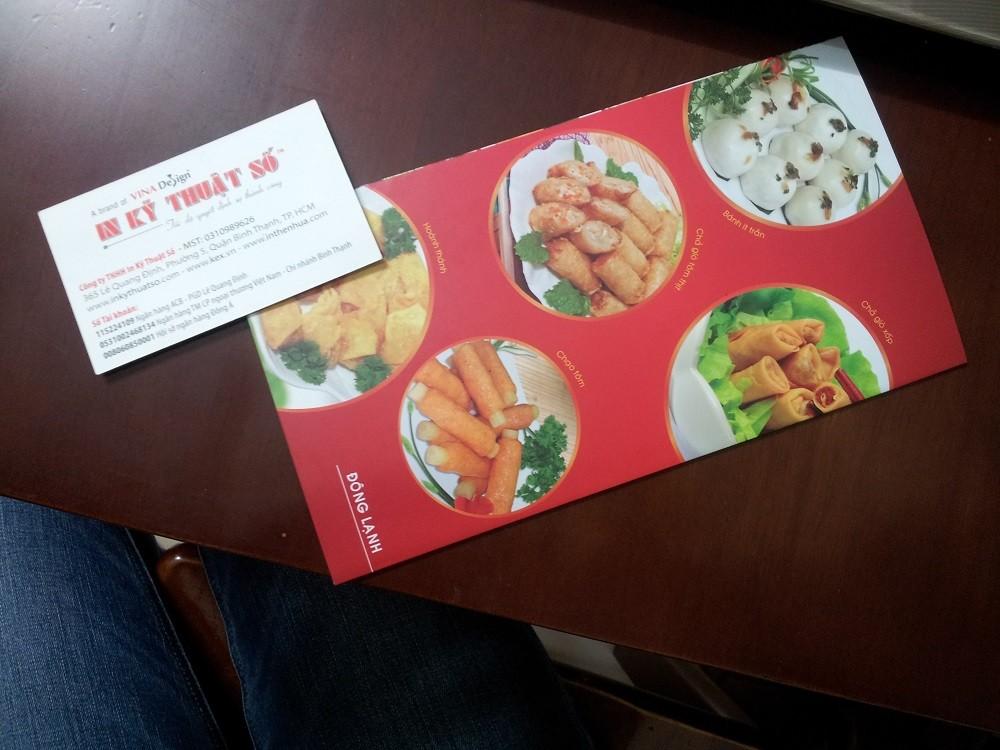 Mẫu tờ rơi quảng cáo đồ ăn