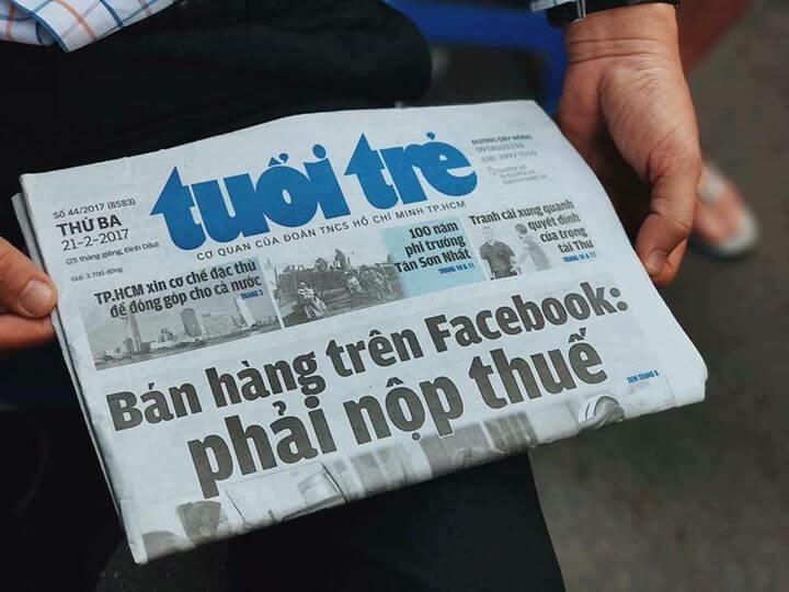 Bán hàng trên Facebook phải nộp thuế