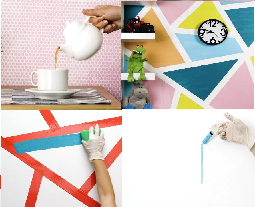 Những ý tưởng sơn tường nghệ thuật tuy đơn giản nhưng siêu đẹp độc đáo