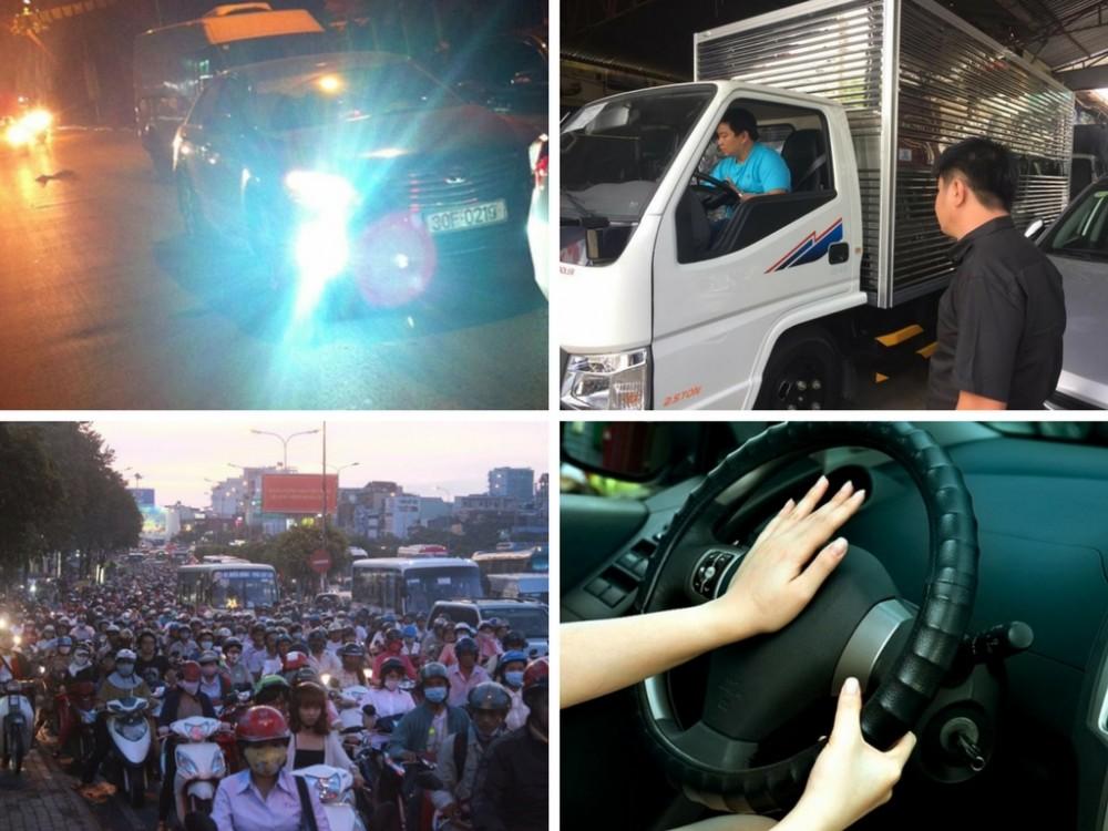 Sự ảnh hưởng và thiếu văn hóa khi bóp còi và bật đèn pha vô tội vạ trên đường phố