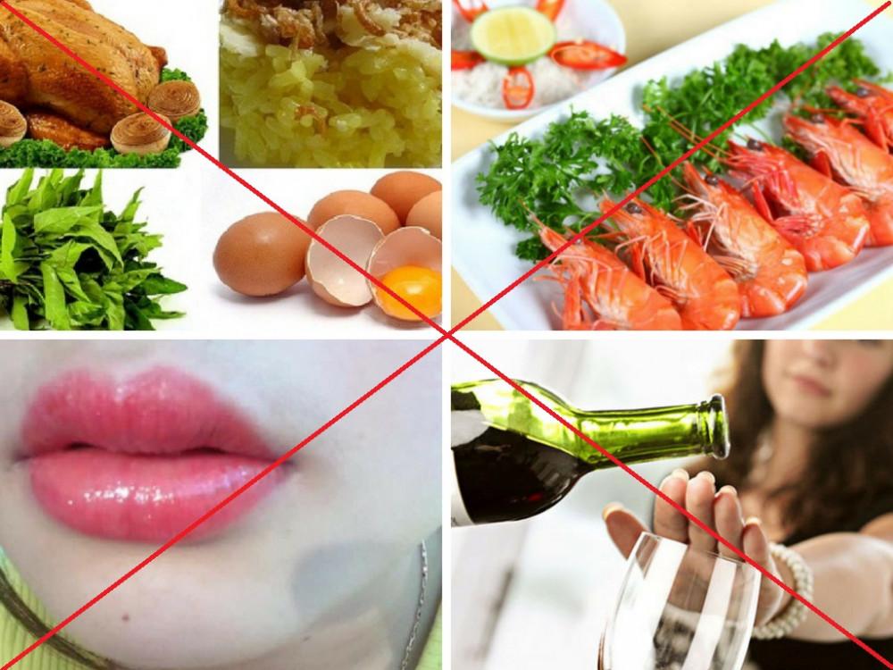 Xăm môi kiêng ăn gì?